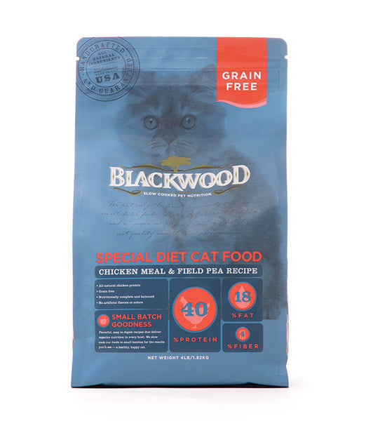 Blackwood Special Diet Cat, Grain Free, Chicken Meal & Field Pea Recipe