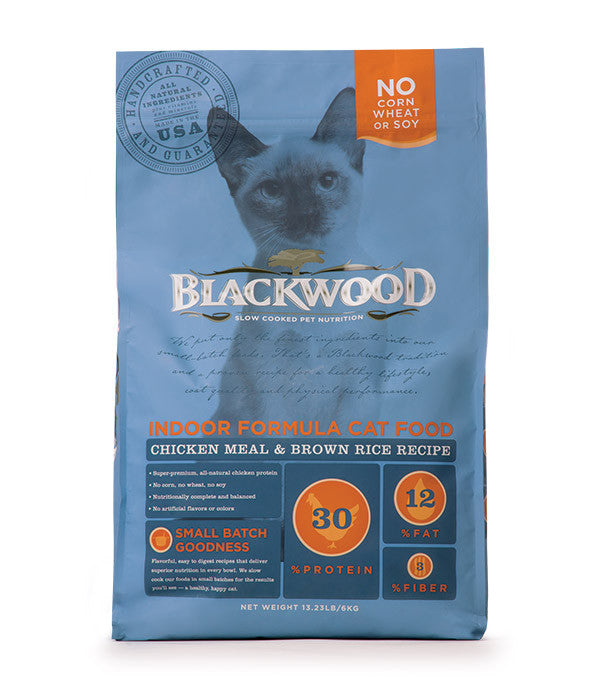 Blackwood Indoor Cat, Chicken Meal & Brown Rice Recipe