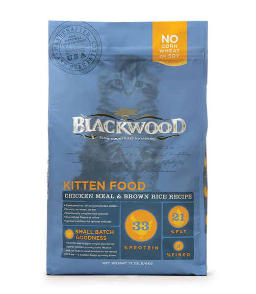 Blackwood Kitten Food, Chicken Meal & Brown Rice Recipe