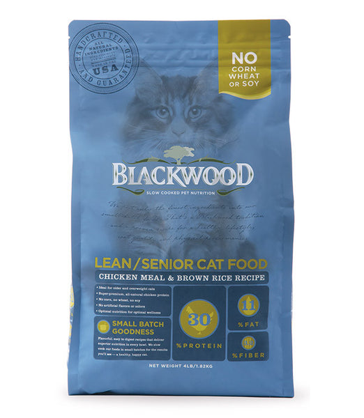 Blackwood Lean/Senior Cat, Chicken Meal & Brown Rice Recipe