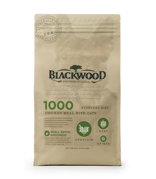 Blackwood 1000, Everyday Dog Diet, Chicken Meal with Oats Recipe