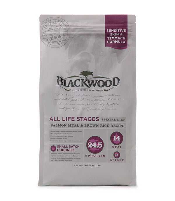 Blackwood All Life Stages Dog, Special Diet, Sensitive Skin, Salmon Meal & Brown Rice Recipe