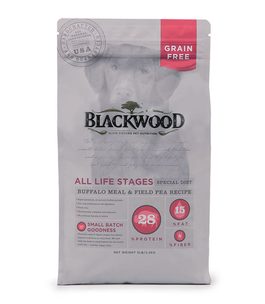 Blackwood All Life Stages Dog, Special Diet, Grain Free, Buffalo Meal & Field Pea Recipe