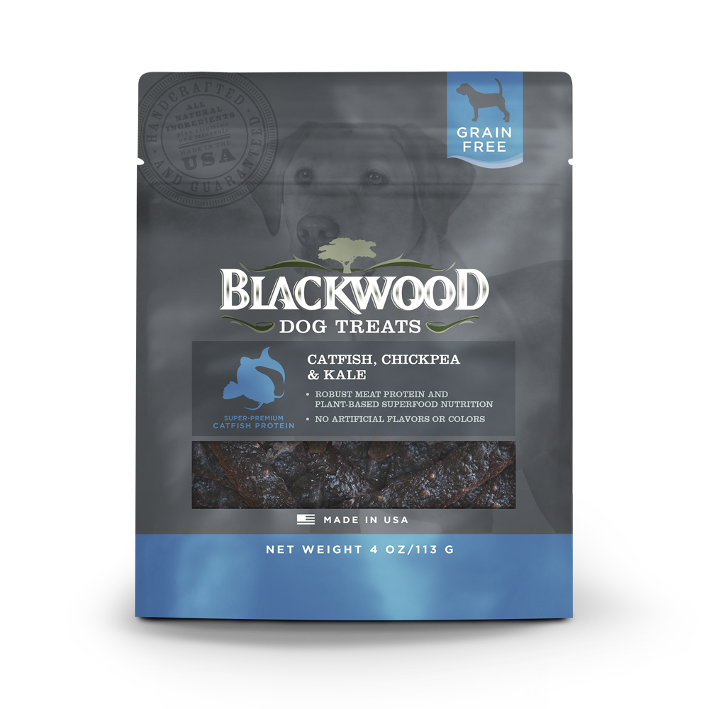 Blackwood All Life Stages, Grain Free, Catfish, Chickpea & Kale Treats - 4oz.