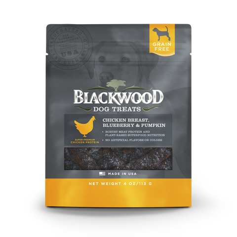 Blackwood All Life Stages, Grain Free, Chicken Breast, Blueberry & Pumpkin Treats - 4oz.