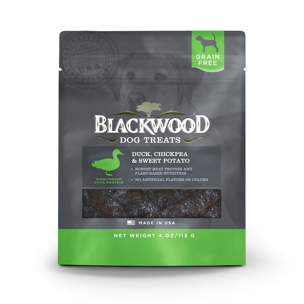 Blackwood All Life Stages, Grain Free, Duck, Chickpea & Sweet Potato Treats - 4oz.