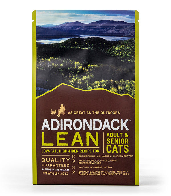Adirondack Lean Low-Fat, High Fiber Recipe For Adult & Senior Cats