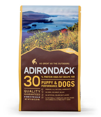 Adirondack 30% Protein High-Fat Recipe For Puppy & Performance Dogs