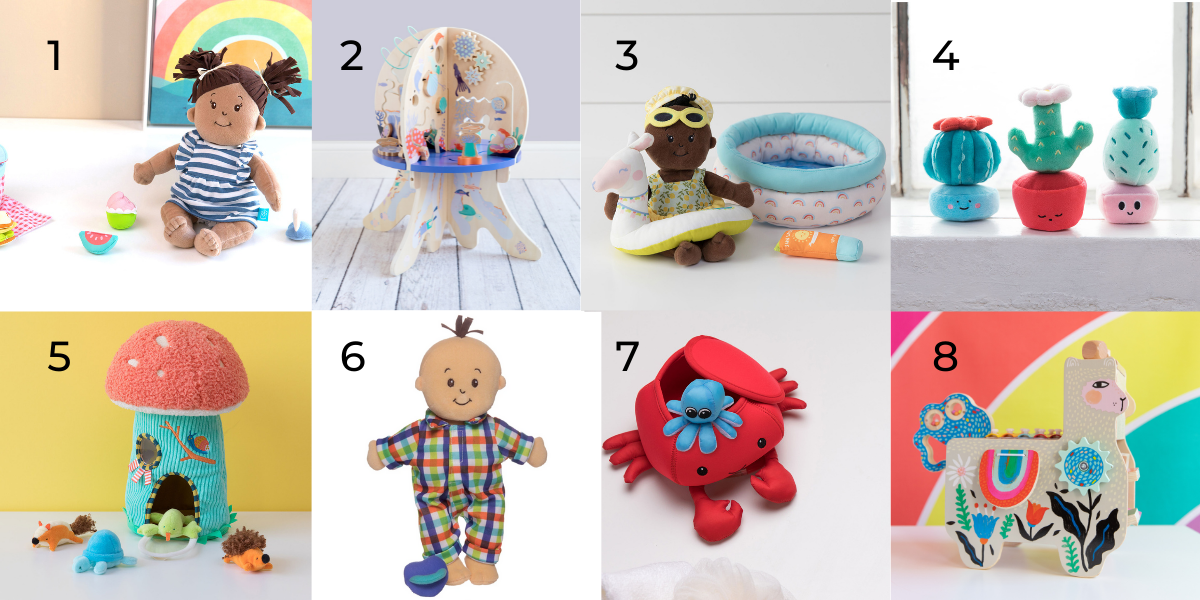 Our 8 favs for 1 year olds.