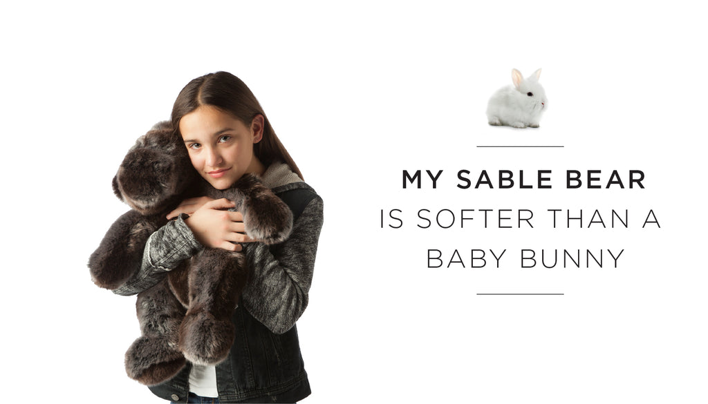 My stuffed animal is softer than...