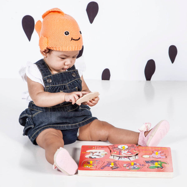 401300 Baby Genius Sounds Wooden Puzzle