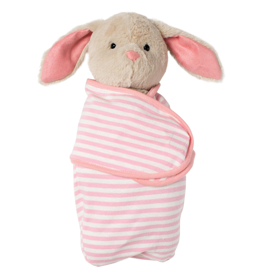 Swaddle Baby Bunny Stuffed Animal Comfort Toy By Manhattan Toy
