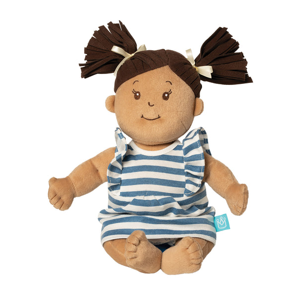 Baby Stella Beige Doll with Brown Hair - Manhattan Toy