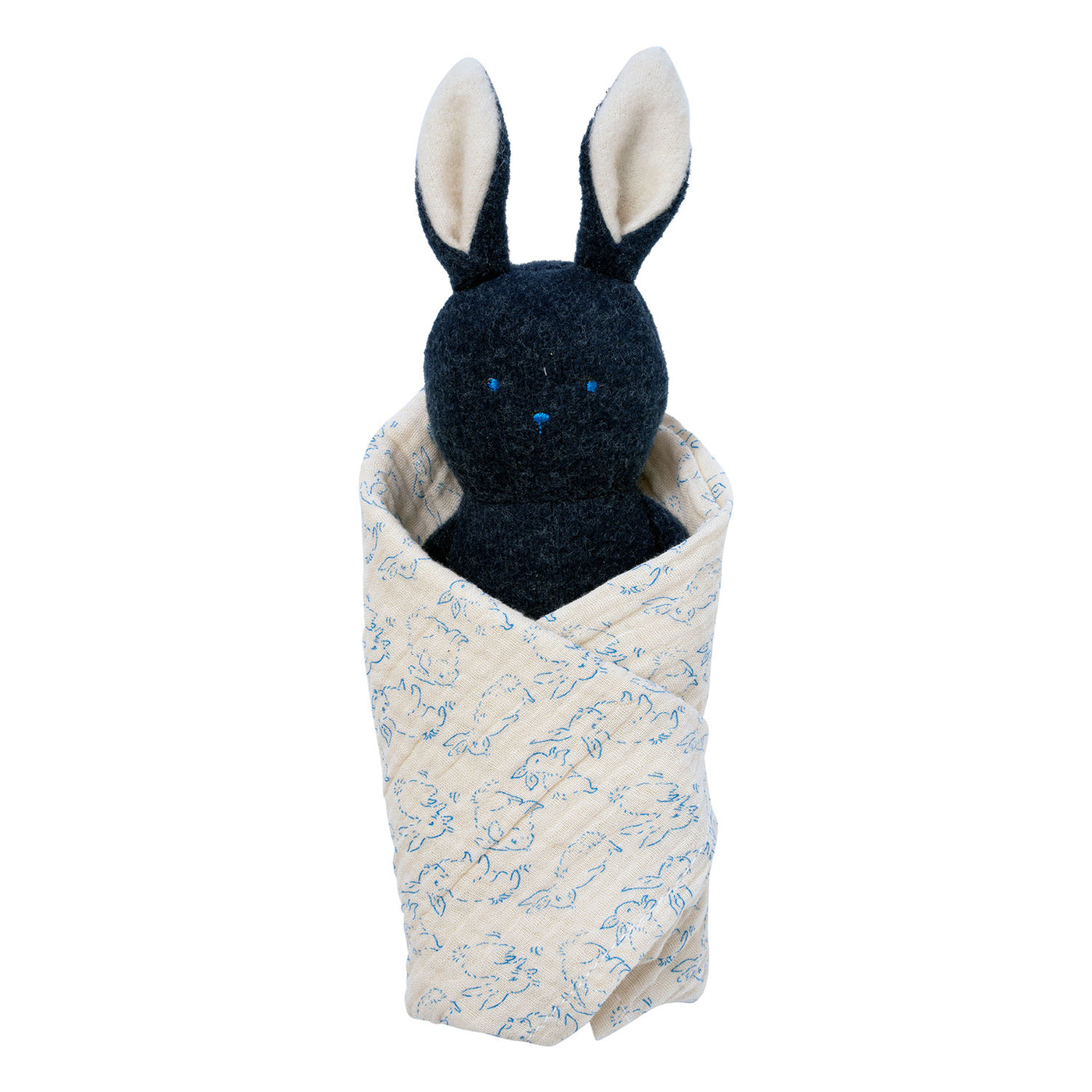 Bunny Rattle + Burp Cloth