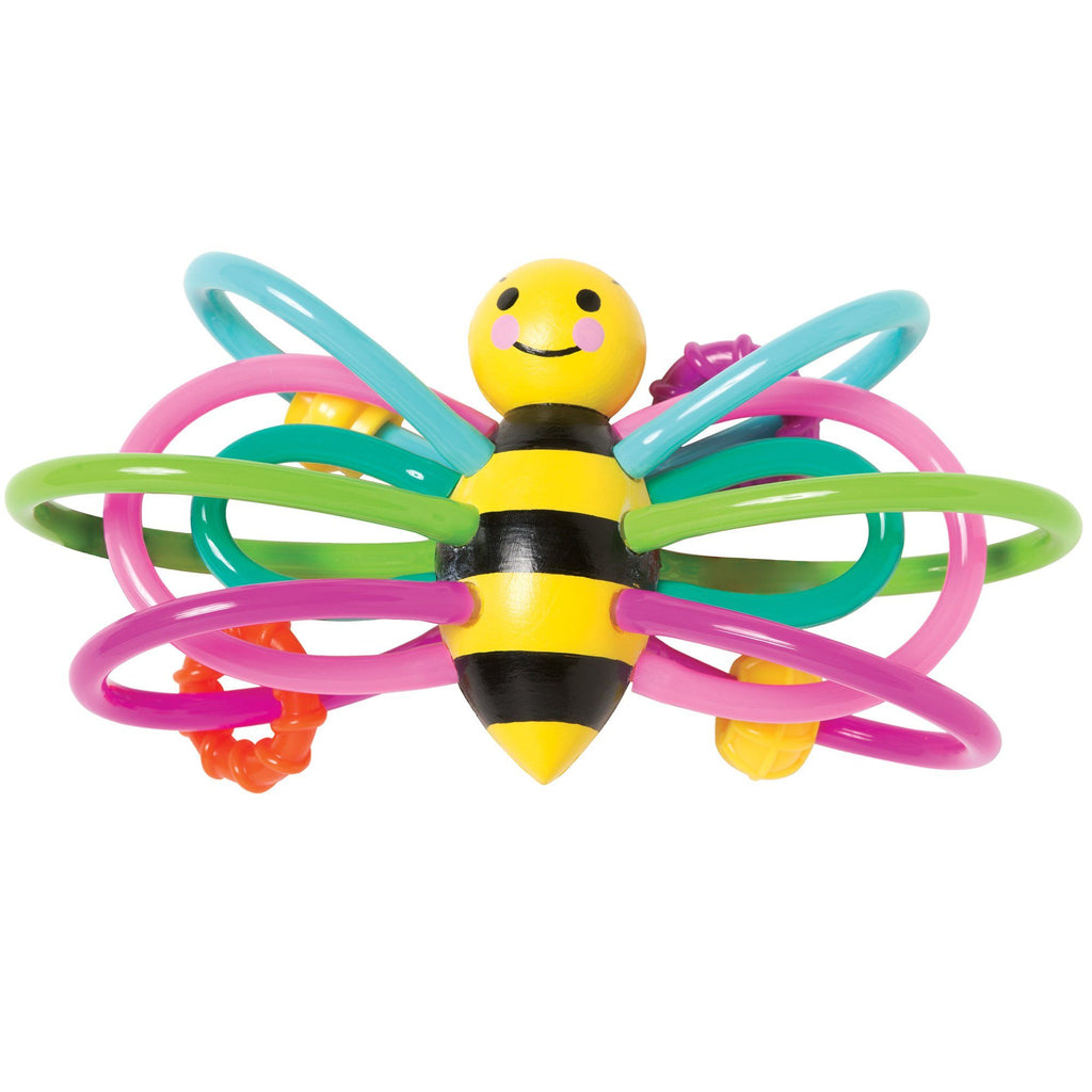 Winkel Bee Soothing Infant Teether Rattle Toy By Manhattan Toy