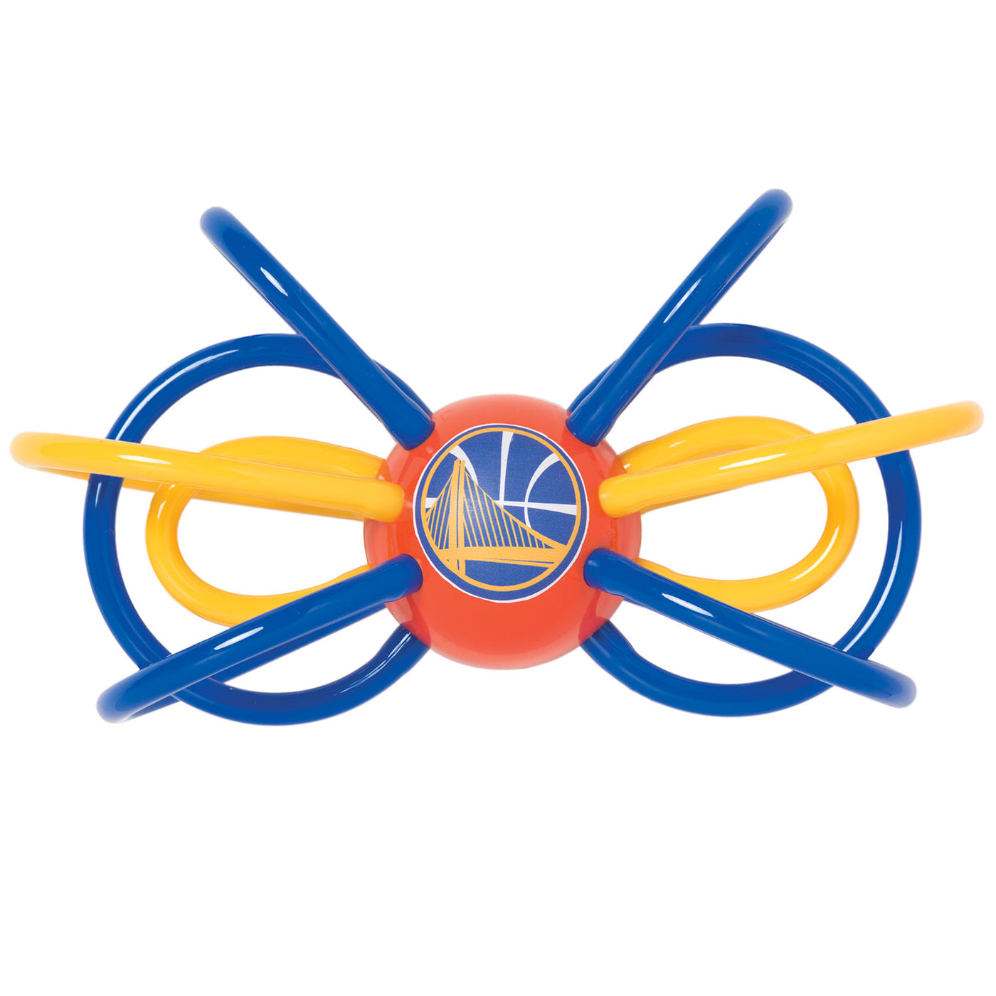 Baby Fanatic NBA Officially Licensed Winkel Rattle Teether Golden State Warriors - Manhattan Toy