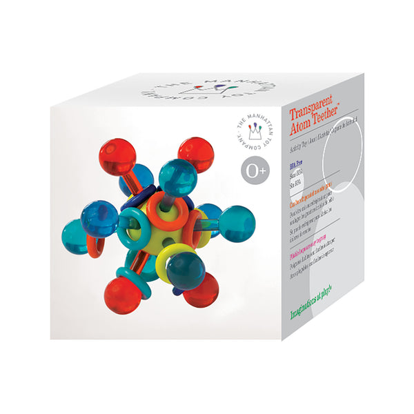Transparent Atom Teether Rattle Boxed