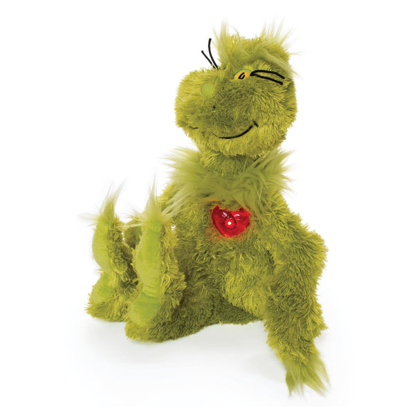 Dr. Seuss GRINCH With Light Up Heart - Manhattan Toy
