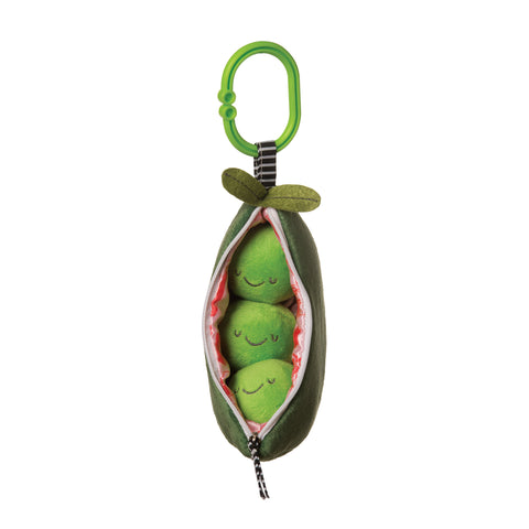 Soft Pea Pod Themed Travel Toy