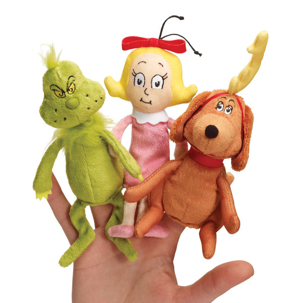 Dr. Seuss THE GRINCH Finger Puppet Set - Manhattan Toy