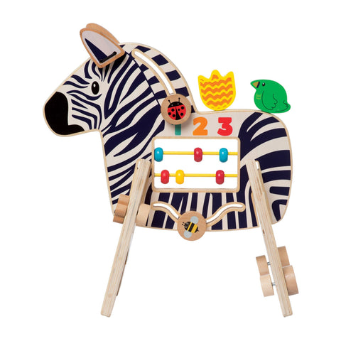 Zebra Themed Wood Activity Center