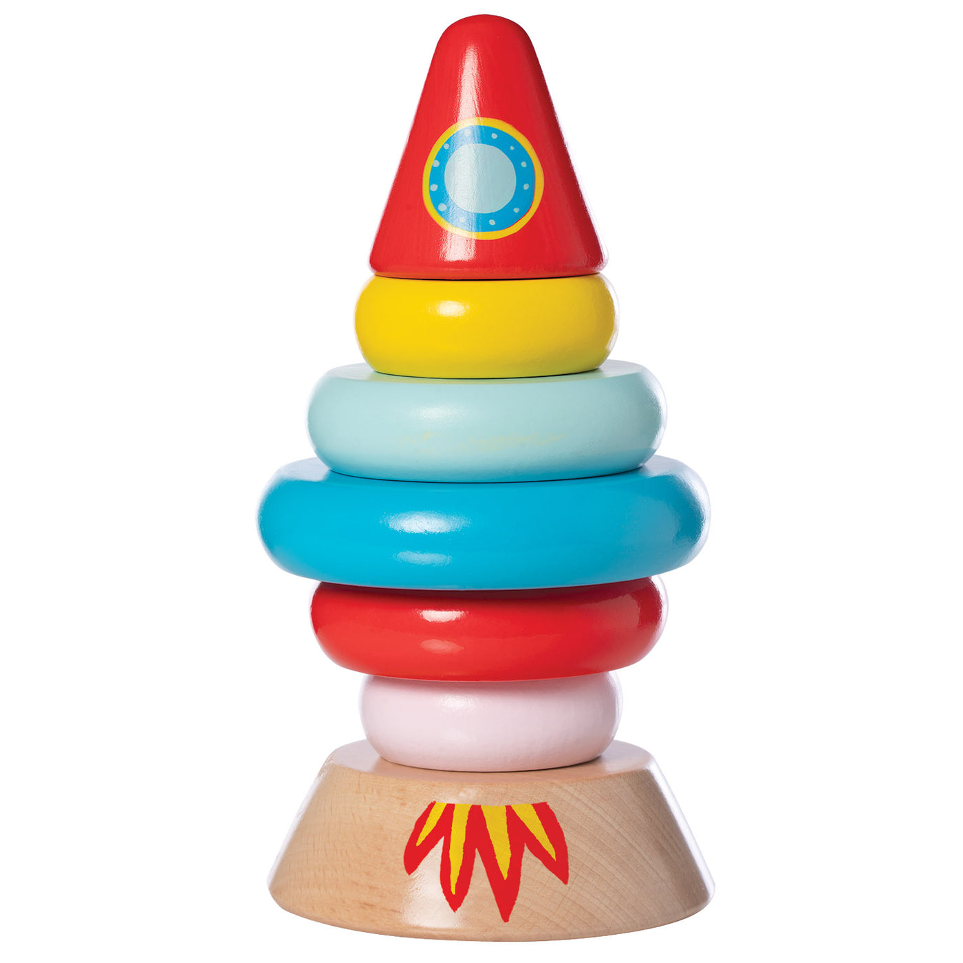 Magnetic Wood Stacker Rocket - Manhattan Toy
