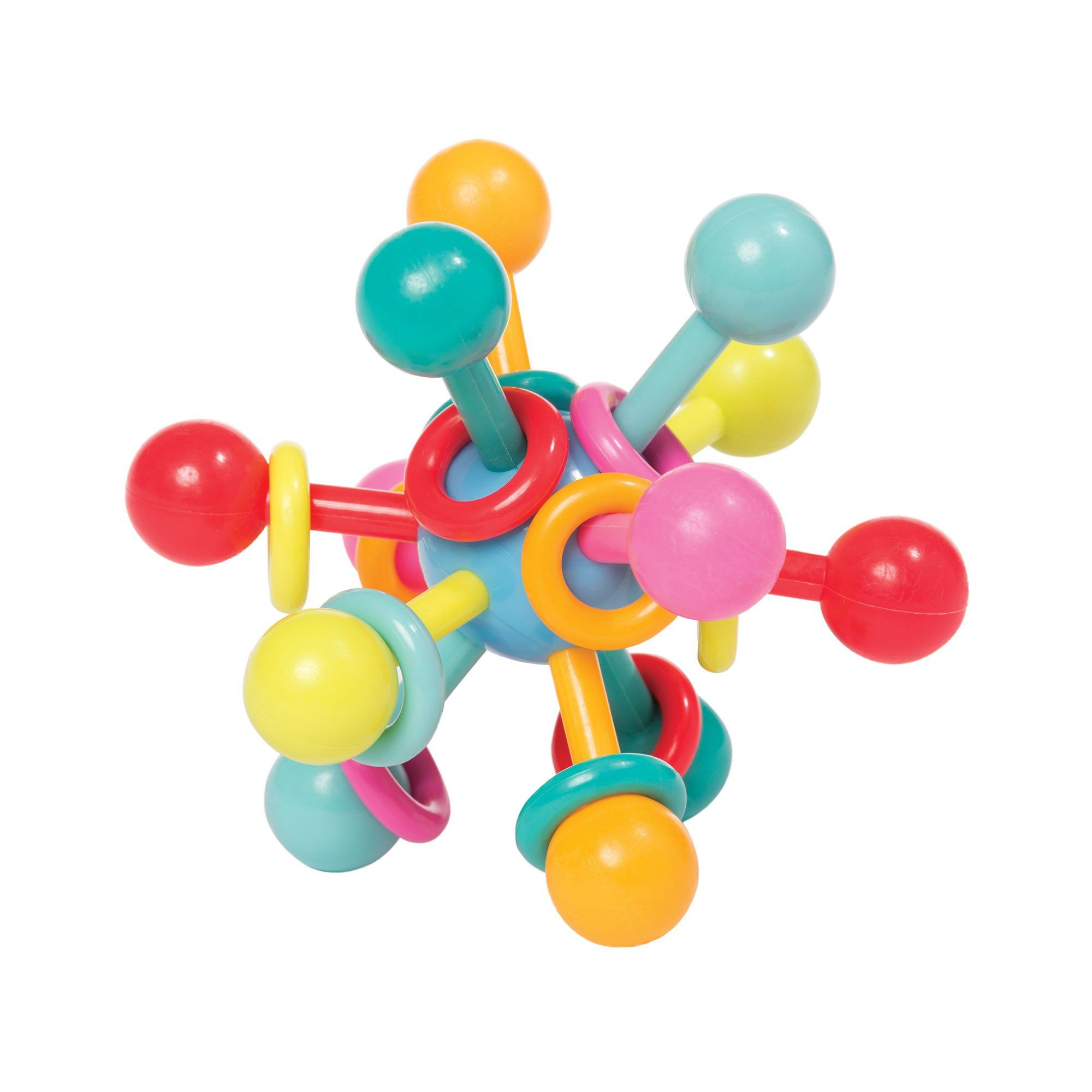 Atom Teether Toy Infant Rattle Teether By Manhattan Toy