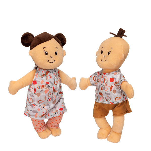 Wee Baby Stella Twins Peach - Manhattan Toy