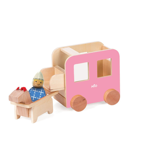MiO   Carriage + Horse + 1 Person Wood Play Set