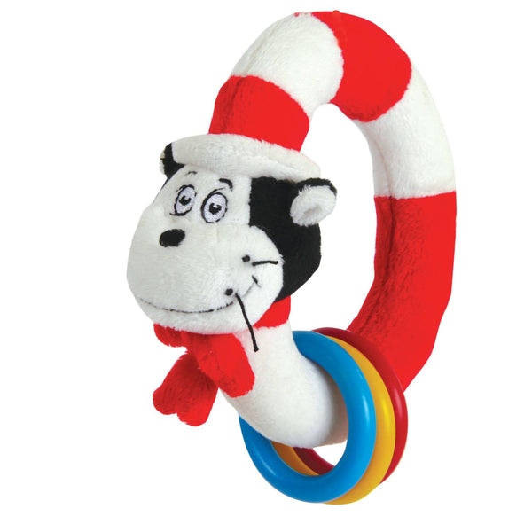 Dr. Seuss THE CAT IN THE HAT Take & Shake Ring - Manhattan Toy