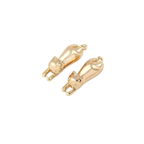 2016 New Fashion Cute Small Cat Stud Earrings In Gold | Silver | Rose Gold For Women