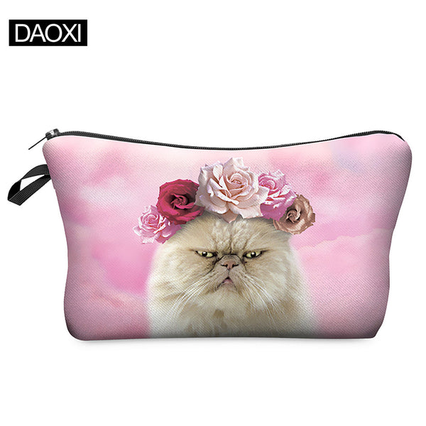 2015 Hot-selling Roses Cat Makeup Bag