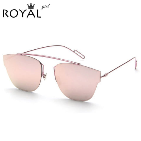 Royal Metal Frame Cat Eye Sunglasses For Women