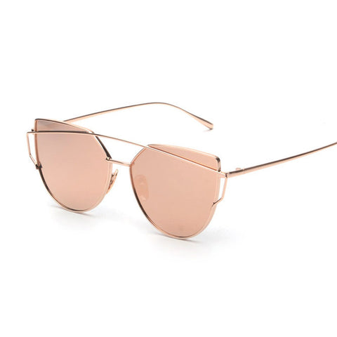 Vintage Mirror Cat Eye Sunglasses For Women