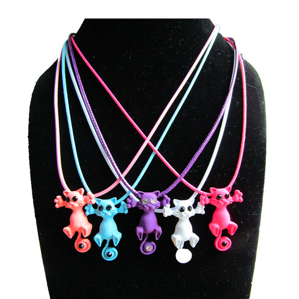 2016 New Arrival Cute Colorful Cat Necklace