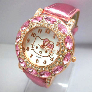 New Arrival Hello Kitty Crystal Quartz Watch For Women