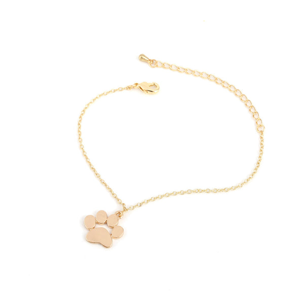 Lovely Gold | Silver Plated Cat Paw Bracelet For Women
