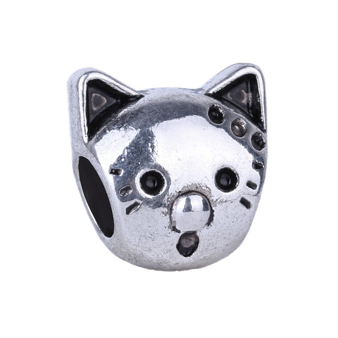 Silver Cat Head Pandora Necklace | Bracelet Bead Charm