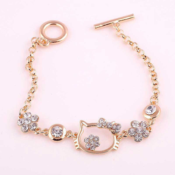 2016 New Fashion Hello Kitty Rhinestone Bracelet For Women