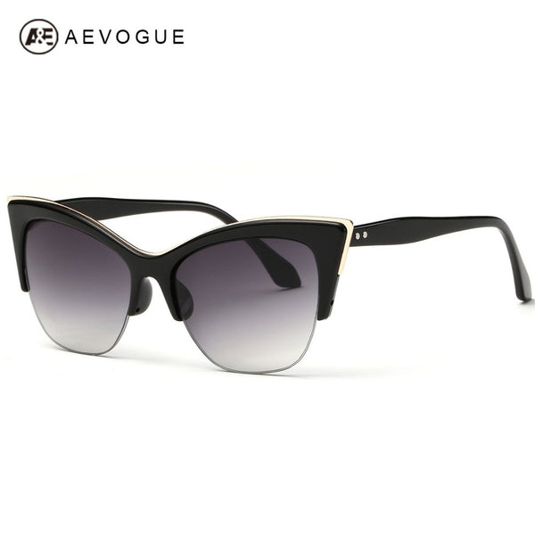 AEVOGUE Half-Frame Cat Eye Sunglasses For Women