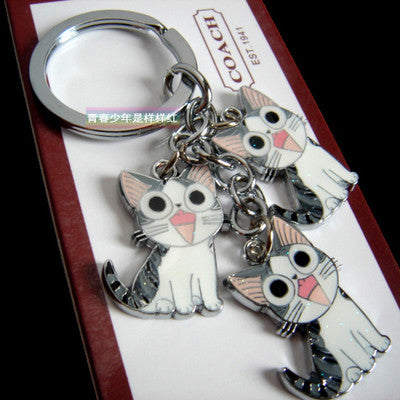 Cute Cartoon Cat Keychain