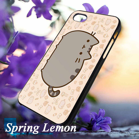Pusheen Cat Hard Phone Case For iPhone 4  4s  5  5s  5c  6  6plus