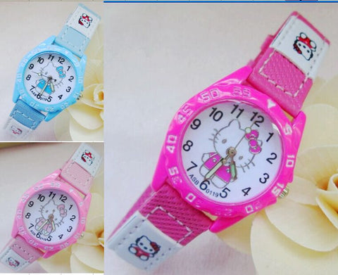 New Cute Hello Kitty Cat Cartoon Quartz Watch For Boys & Girls