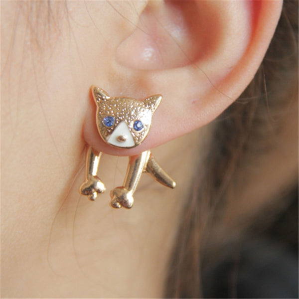 New Fashion Angry Cat Stud Earring For Women