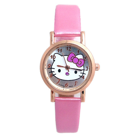 2016 Luxury Gogoey Brand Cute Hello Kitty Watch For Women & Girls