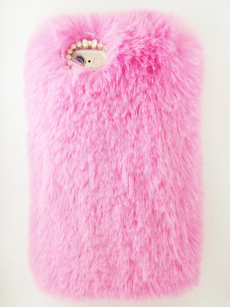Fur iPhone Case - Pink