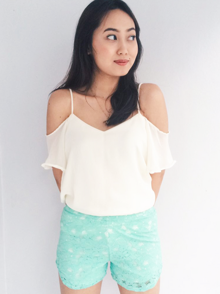 Ezra Lace Shorts - Mint