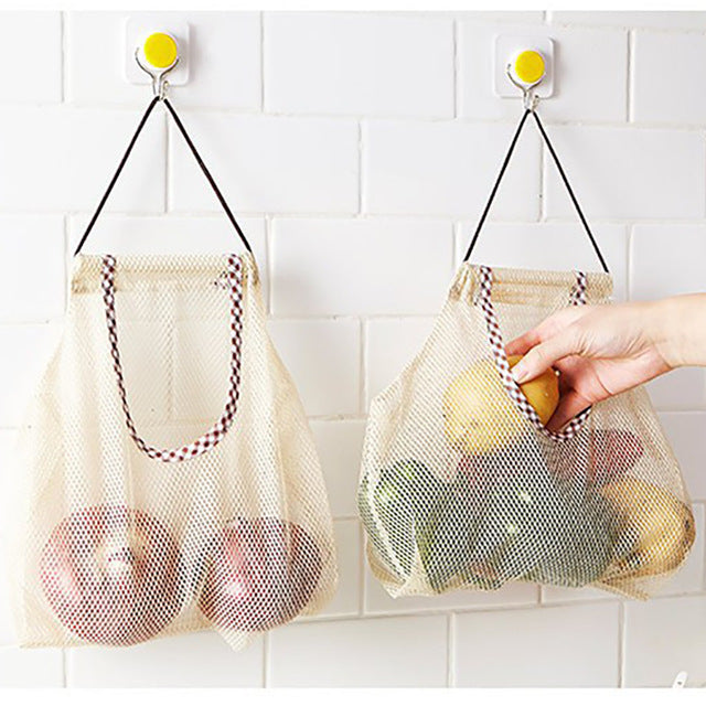 Kitchen Fruit & Vegetable Mesh Storage Bag