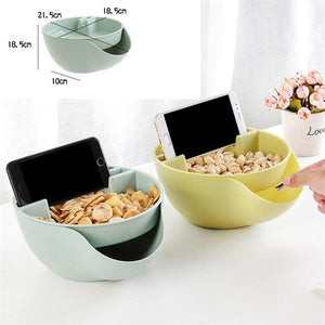 Creative Nut Seeds Snacking Bowl with Cell Stand