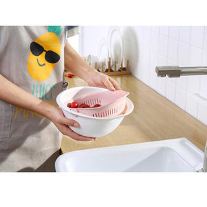 Double Drain Basket Washing Strainer